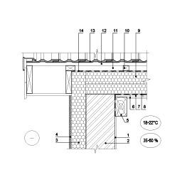 Šlaitinio stogo jungties su frontonu šiltinimas, kai šilumos izoliacija dedama virš gegnių, epsa.lt, PPA