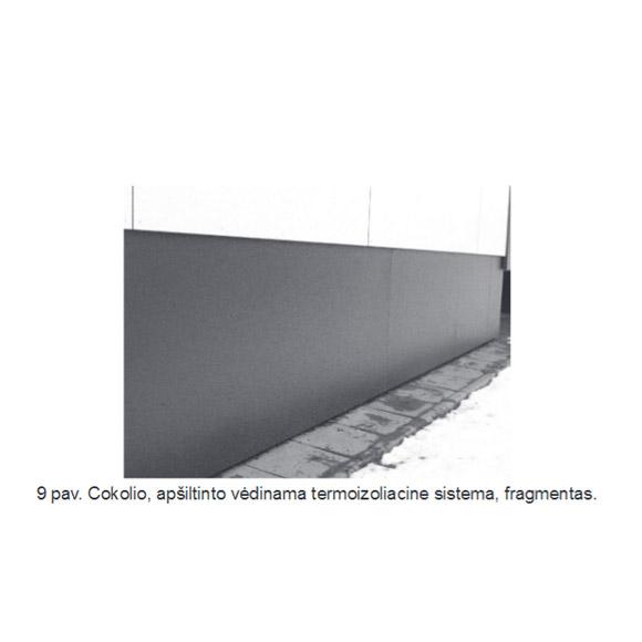 Cokolio, apšiltinimo vėdinama termoizoliacinė sistema, fragmentas, epsa.lt