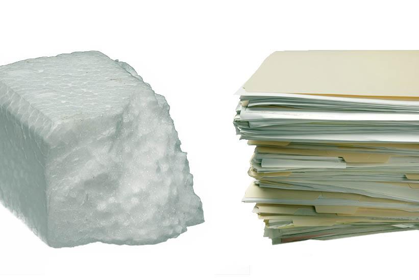 Dokumentai ir polistireninis putplastis