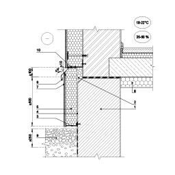Eksplotuojamo pastato iškišto cokolio šiltinimas tinkuojamo sudėtine termoizoliacine sistema, kai papildomai šiltinima rūsio perdanga, epsa.lt, PPA