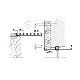 Eksplotuojamo pastato rūsio išorinės sienos šiltinimas tinkuojama sudėtine termoizoliacine sistema ties šviesduobės viršumi, epsa.lt, PPA