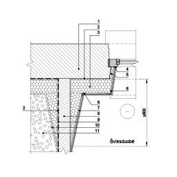 Eksploatuojamo pastato rūsio išorinės sienos bei šviesduobės šiltinimas tinkuojama sudėtine termoizoliacine sistema ties šviesduobės šonu, epsa.lt, PPA