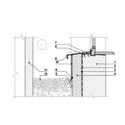 Eksploatuojamo pastato rūsio išorinės sienos bei šviesduobės šiltinimas tinkuojama sudėtine termoizoliacine sistema ties šviesduobės apačia, epsa.lt, PPA
