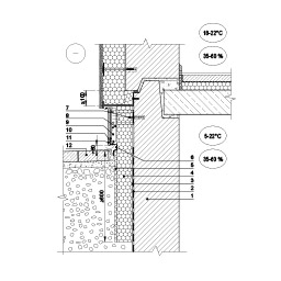 Eksploatuojamo pastato rūsio išorinės sienos ir įtraukto cokolio šiltinimas vėdinama šiltinimo sistema, kai rūsio perdanga papildomai nešiltinama, epsa.lt, PPA