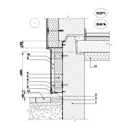 Eksploatuojamo pastato įtraukto cokolio papildomas šiltinimas vėdinama šiltinimo sistema, kai papildomai šiltinama rūsio perdanga, epsa.lt, PPA