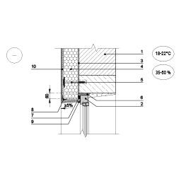Sienos šiltinimas ties viršulangiu, kai langas yra prie sienos išorinio paviršiaus, epsa.lt, PPA