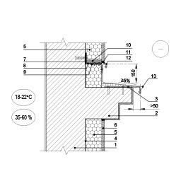 Sienos šiltinimas, panaudojant skardos lankstinį prie horizontalios fasado juostos, epsa.lt, PPA