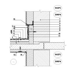 Sienos šiltinimas, panaudojant cokolinį profiluotį ties atviro balkono perdanga, epsa.lt, PPA