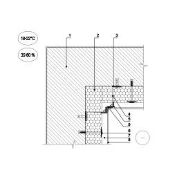Sienų vidinio kampo šiltinimas vėdinama termoizoliacine sistema su lakštine apdaila, epsa.lt, PPA