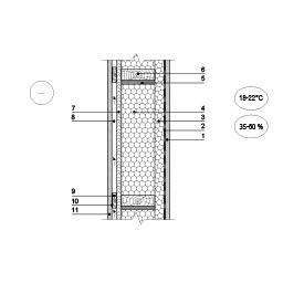 Karkasinio pastato išorinės sienos šiltinimas vedinama termoizoliacine šiltinimo sistema (planas), epsa.lt, PPA