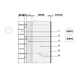 Išorinės sienos apdailos plytų ekranu ir vėdinamu tarpu šiltinimas, epsa.lt, PPA