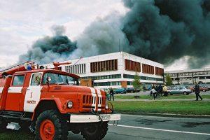 "Gaisras ""Ekrano"" gamykloje. 2002.10.03. ELTOS foto"