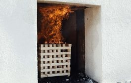 EPS Degumo bandymas - gaisro poveikio fasado apdailai vertinimas